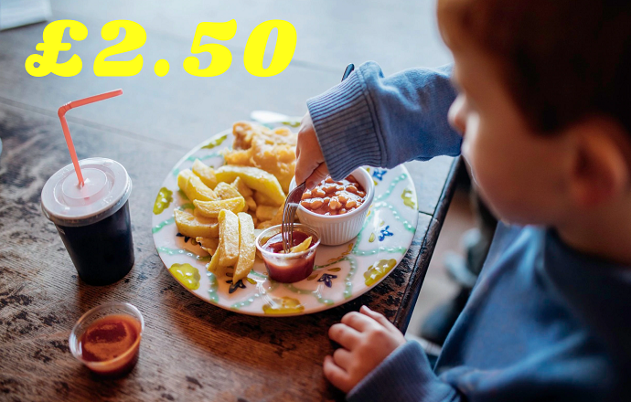 Kids eat for only £2.50